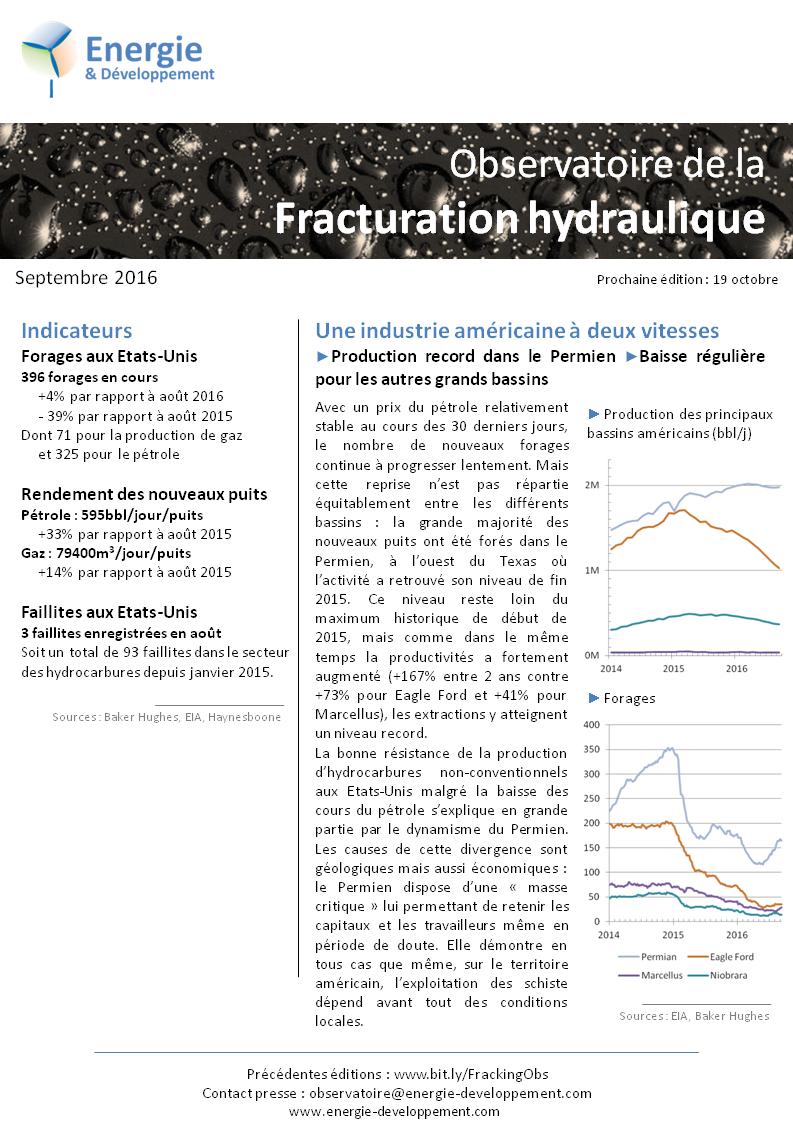 Observatoire de la fracturation hydraulique, du gaz et du pétrole de schiste et des hydrocarbures non-conventionnels