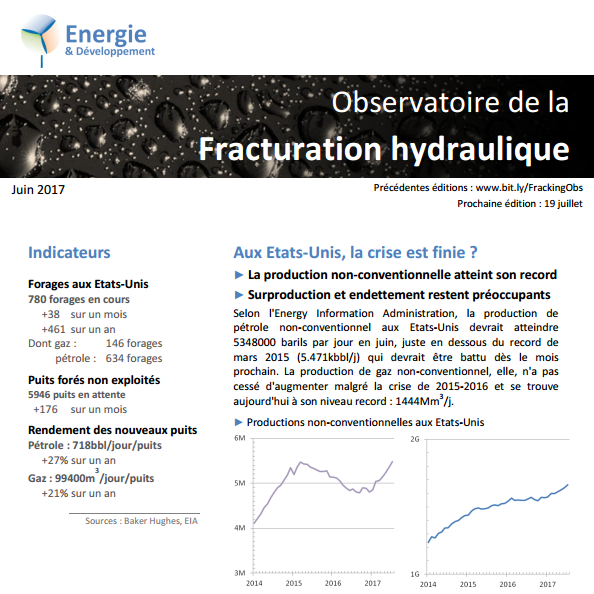Observatoire de la fracturation hydraulique et des hydrocarbures non-conventionnels